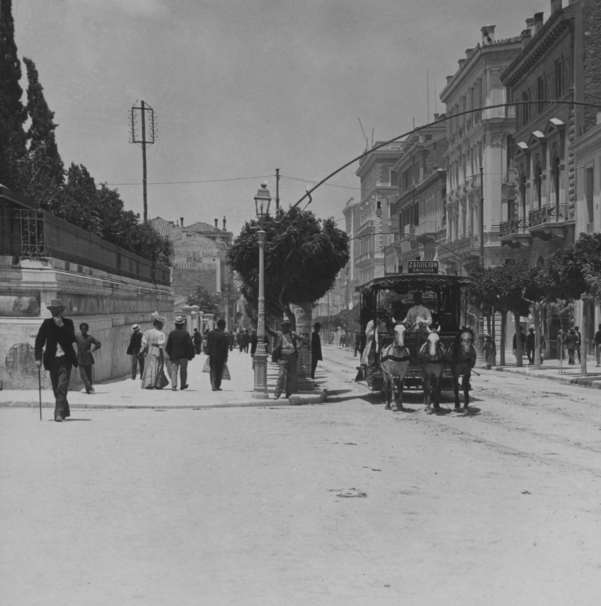 Stadiou Street in the late 19th century. Photographer unknown. Courtesy of the Nikos Politis Collection