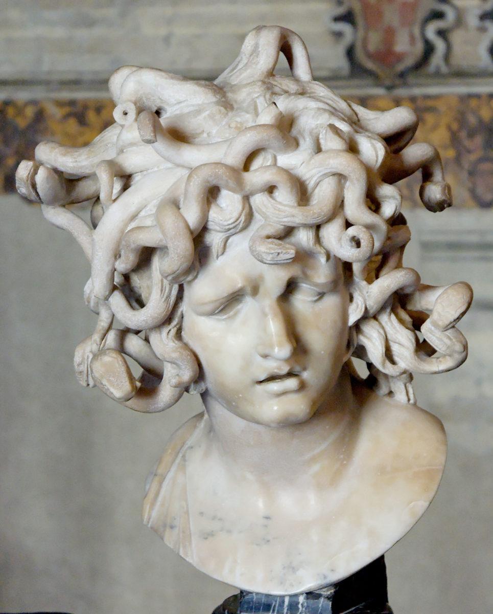 """Bernini, """"Bust of Medusa"""", 1630, Rome. Musei Capitolini. (Photo: Wikimedia Commons)"""