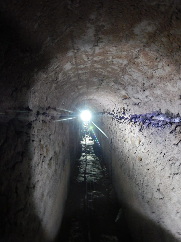 A network of tunnels and canals has been identified which branches out from a pair of cisterns below the Forum, running under Via Marina and ending near the Imperial Villa.