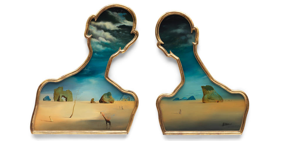 Salvador Dalí,'Couple aux têtes pleines de nuages', 1937.