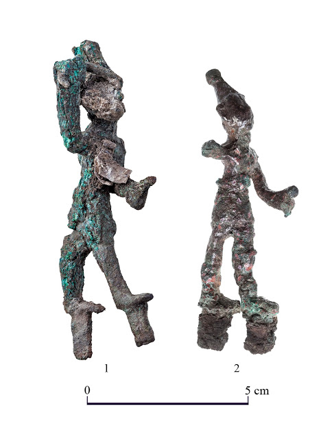 Two ancient figurines found at the temple in Tel Lachish likely represent Baal and Resheph,