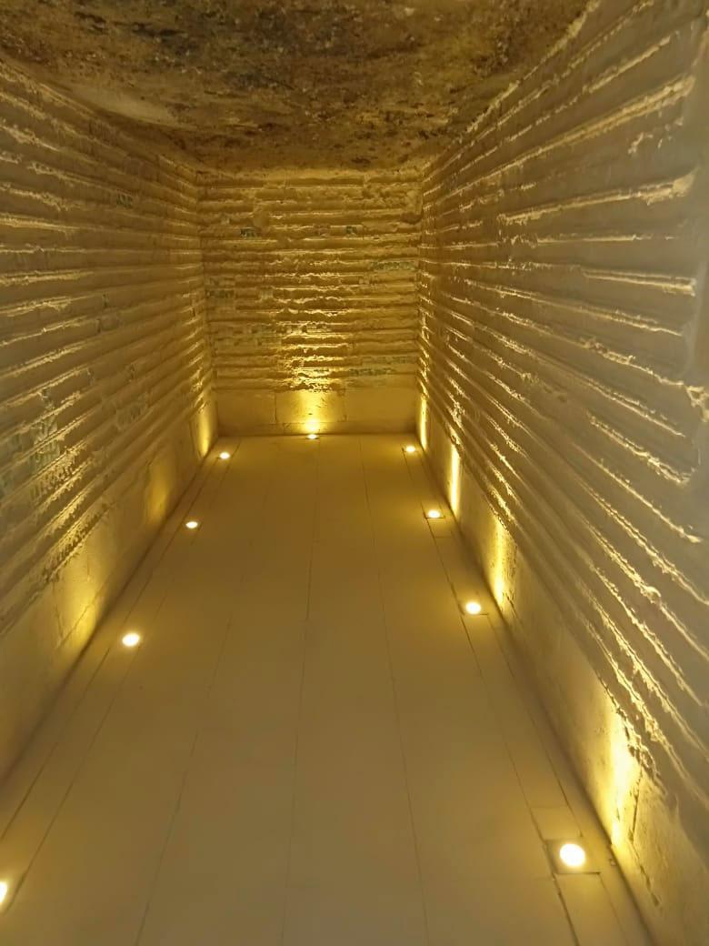 The interior of the Step Pyramid in Saqqara following restoration.