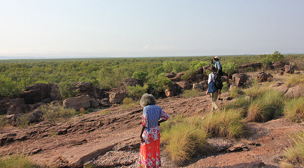Madjedbebe is a sandstone rock shelter at the base of the Arnhem Land escarpment, and is Australia's oldest documented site. Credit: University of Queensland