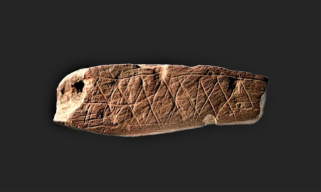 Why did the Stone Age man spend time making patterns like these? Credit: Rock Art Research Institute.