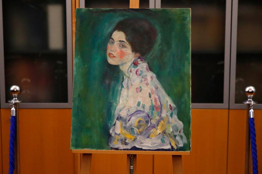 """Gustav Klimt, """"Portrait of a Lady"""", 1916-1917."""