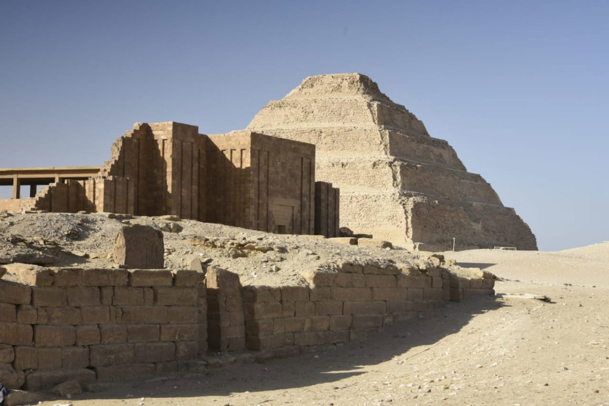 Step Pyramid after the completion of the restoration-develpmpent project.