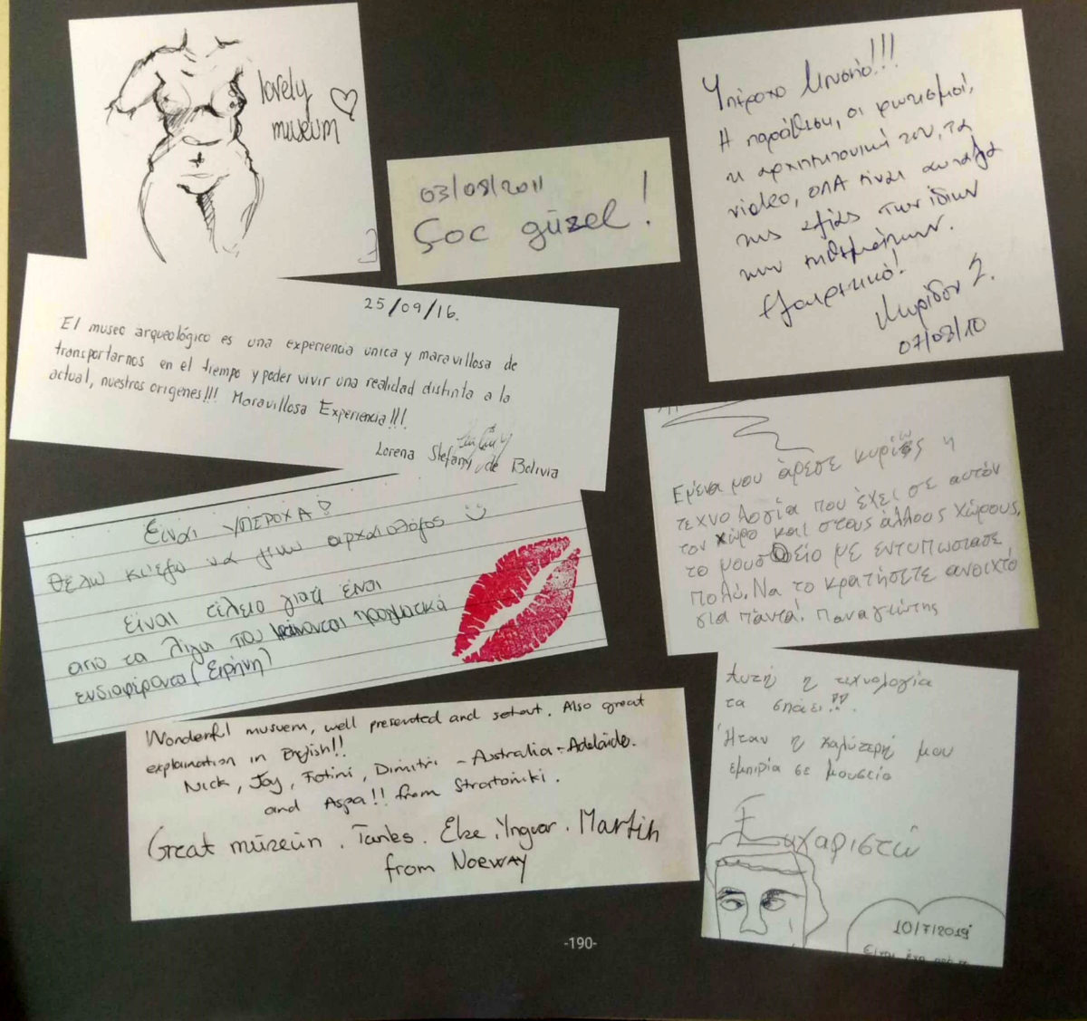 Visitors' impressions from the anniversary album