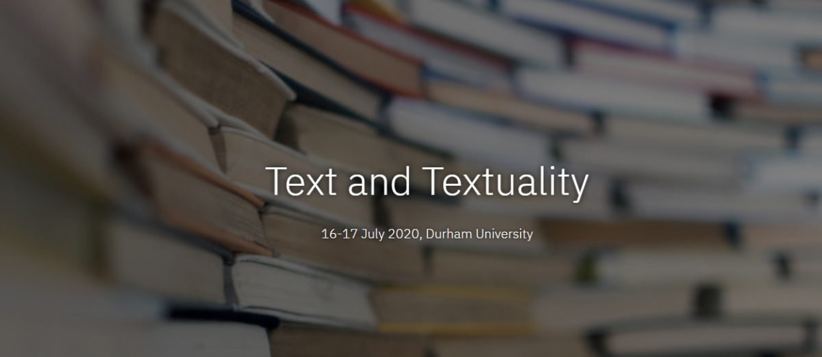 This conference seeks to bring together an interdisciplinary community of scholars to consider the relationship between new approaches and existing methodologies for engaging with texts.