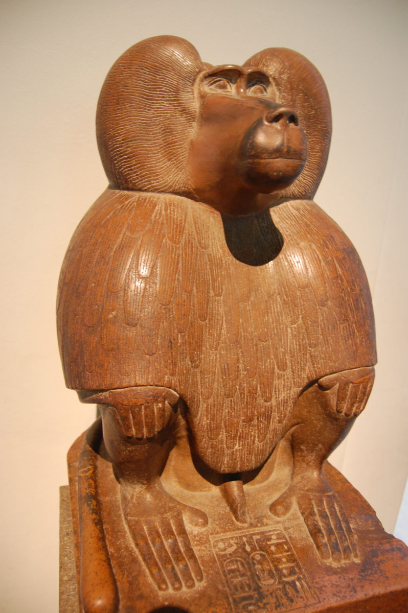 Depiction of Thoth as a baboon (c.1400 BC), in the British Museum.