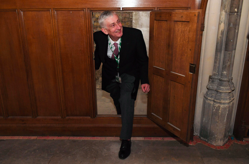 Speaker Sir Lindsay Hoyle was one of the first modern visitors to the hidden chamber.