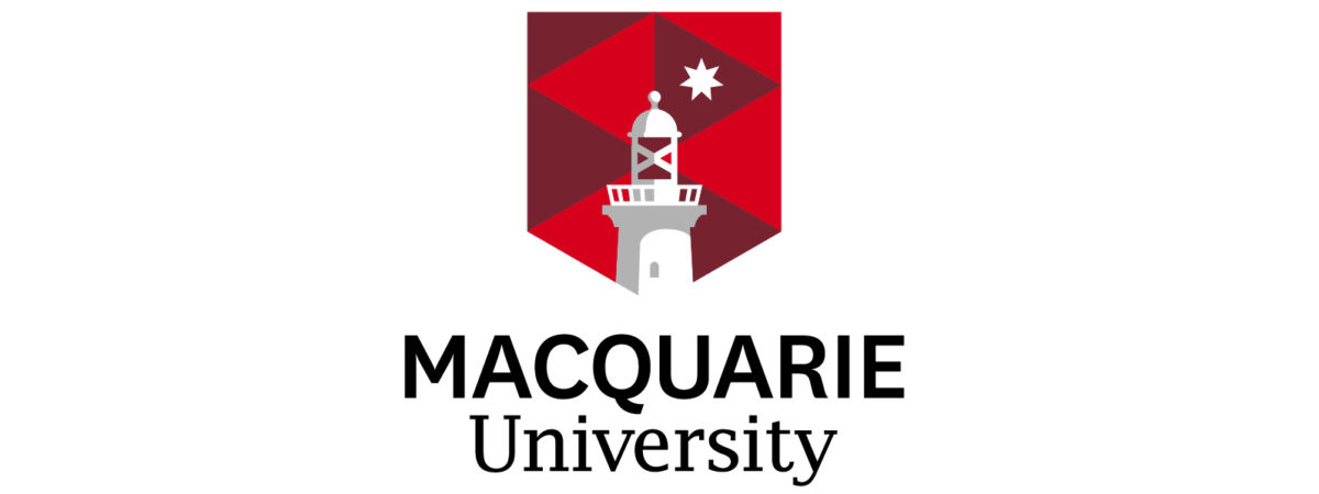 Logo of the Macquarie University.