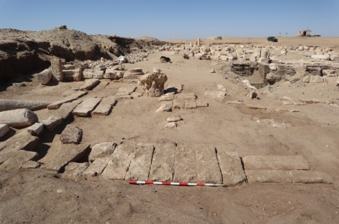 View of one of the areas in the archaeological site.