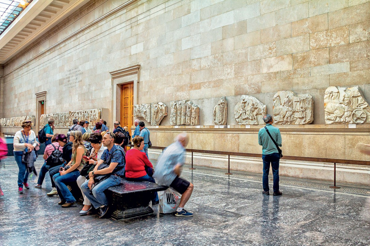 The Parthenon Sculptures at the British Museum (photo: Athens and Macedonia News Agency)