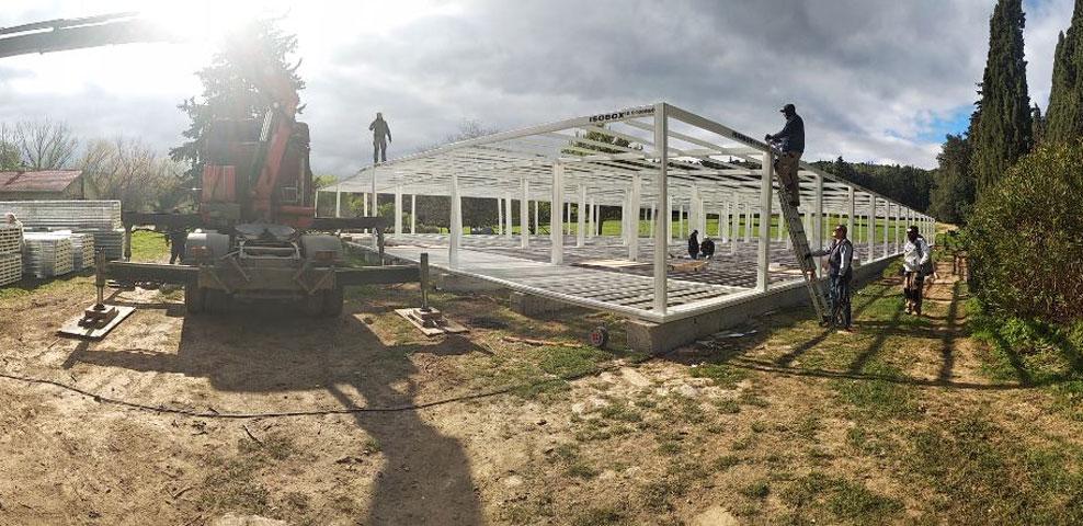 Tolls under construction in the Tatoi estate (photo: MOCAS)