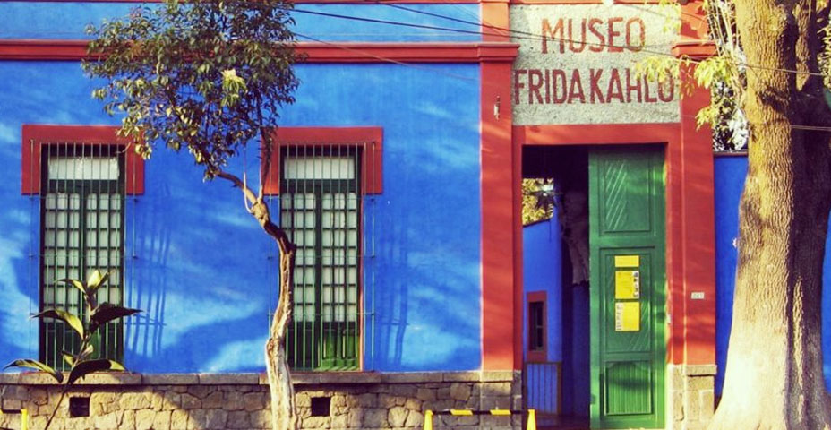 The museum-house of Frida Kahlo.