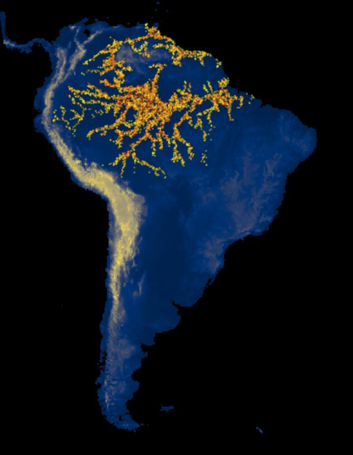 Computer simulation of the expansions of several archaeological cultures in South America. Credit: UPF