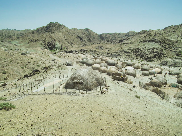 Dwellings of the current nomad inhabitents of the area. Credit: Hossein Vahedi