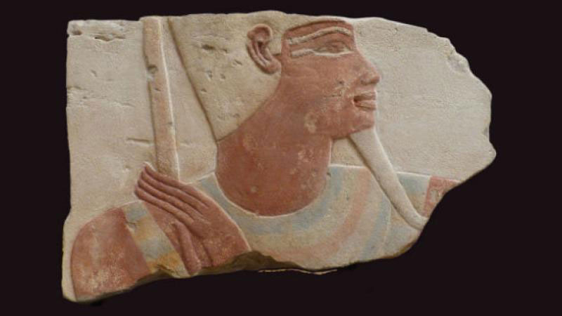 Stolen relief from a London collection, identified by the British Museum in 2014 as coming from a building of Thutmose IV in Karnak, and now back in Egypt. © Marcel Marée via CircArt website.