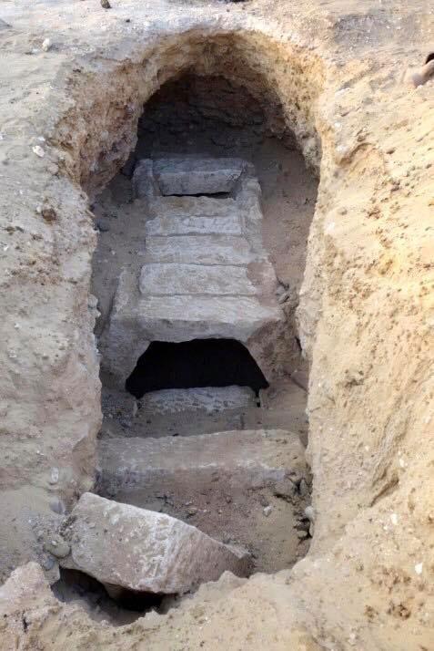 Unique tomb of the Saite period found at Oxhyrhynchus. Source: MoTA Egypt.