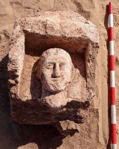 Greco Roman era tombstone from Oxyrhynchus. Source: MoTA Egypt.