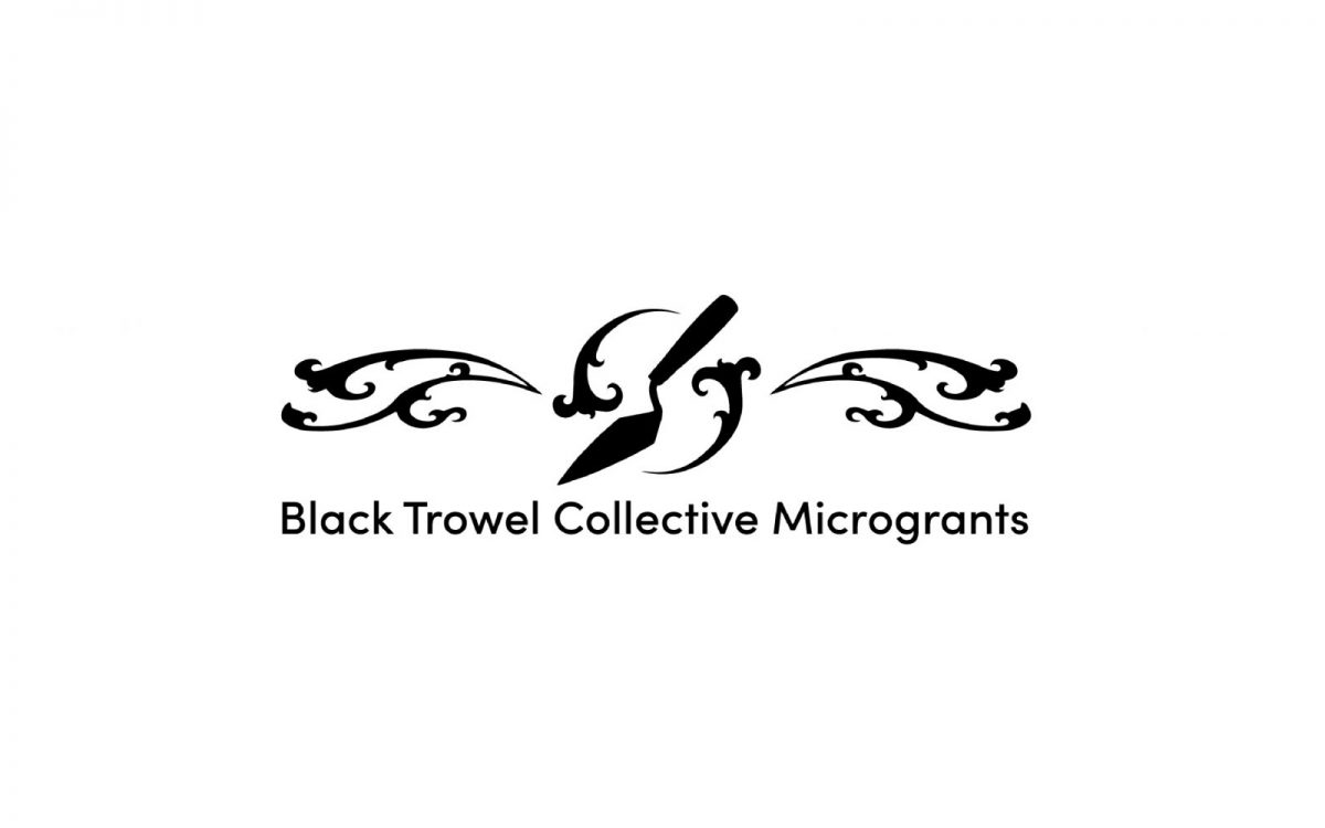 Black Trowel Collective Microgrants logo.