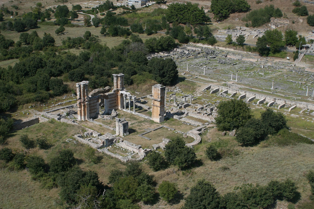 The archaeological site of Philippi (Athens and Macedonia News Agency).