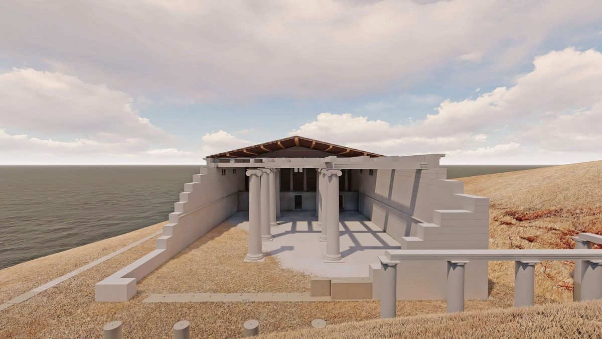 Reconstruction of the sanctuary of the Kaveiroi (photo: Athens and Macedonia News Agency)