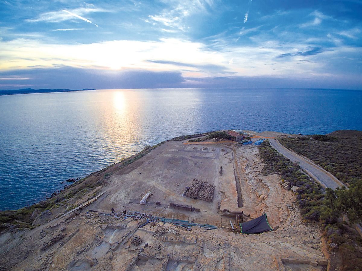 The sanctuary of the Kaveiroi after completion of the site's configuration and enhancement (photo: Athens and Macedonia News Agency)