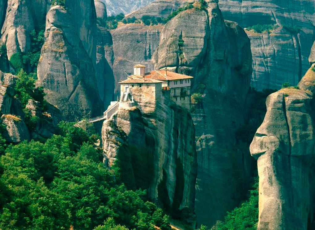 View of a monastery at Meteora.