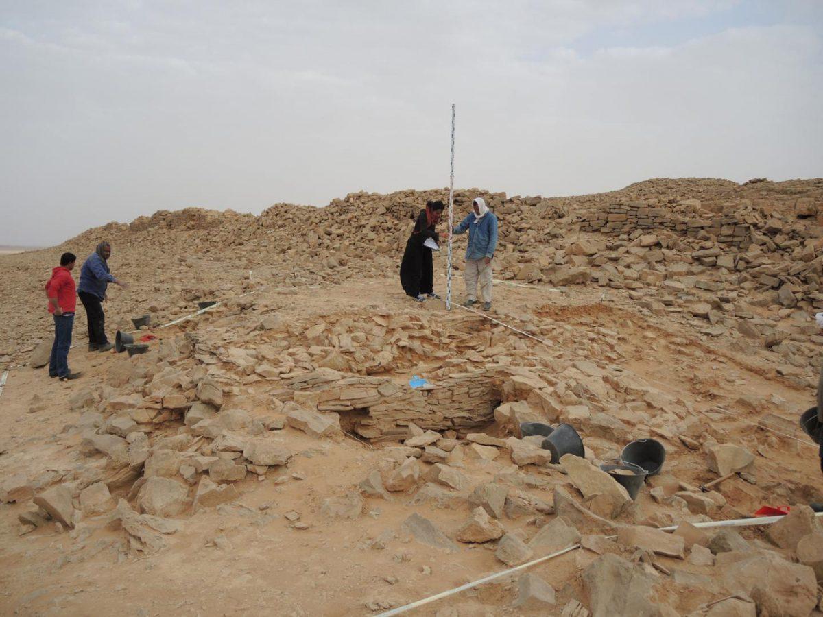 The platform during excavation. Credit: © MADAJ
