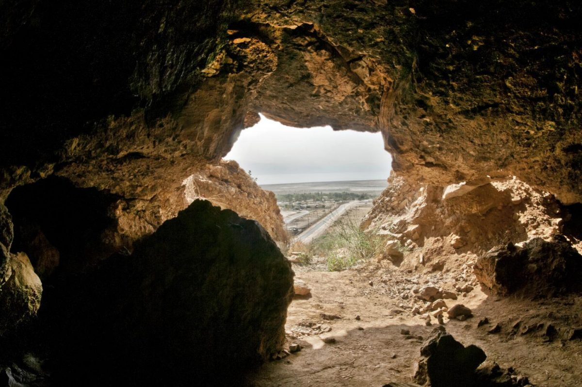 This image shows one of the Qumran caves where the Dead Sea Scroll fragments were found. Credit: Courtesy of the Israel Antiquities Authority, Photographer Shai Halevi