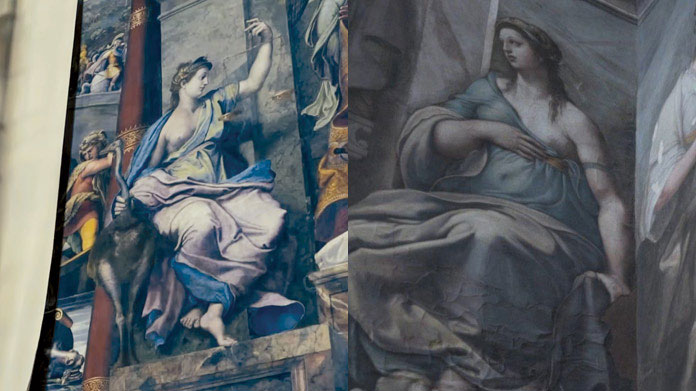 The works of Raphael recently discovered at the Vatican. Still from a related video, Vatican News Website