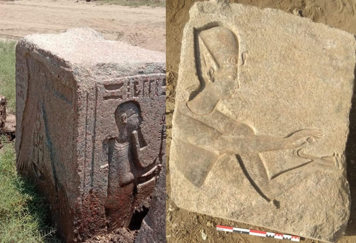Embossed stone blocks. Image Credit: Ministry of Tourism and Antiquities