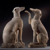 Outstanding Roman figures of Celtic Hounds at risk of export