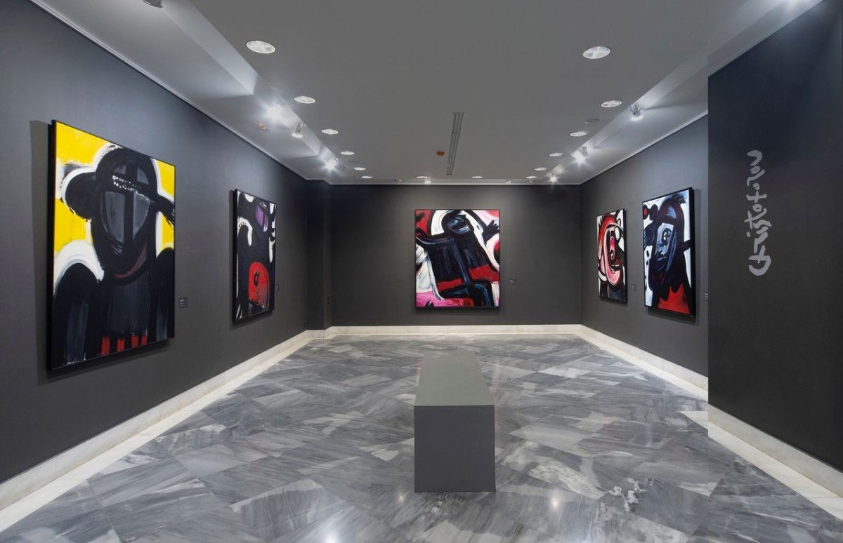 "View of the exhibition ""Approaches to Abstraction by Greek Artists of the Diaspora""  (Image credit: Basil & Elise Goulandris Foundation)"