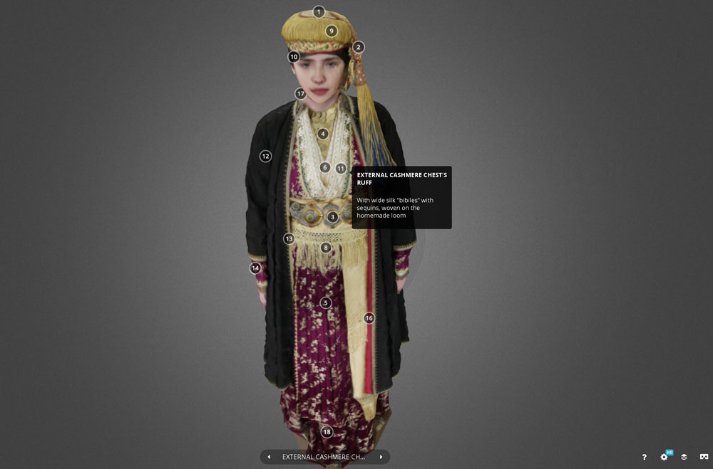 Traditional costume from Naoussa: Nr. 1 on sketchfab, the digital library