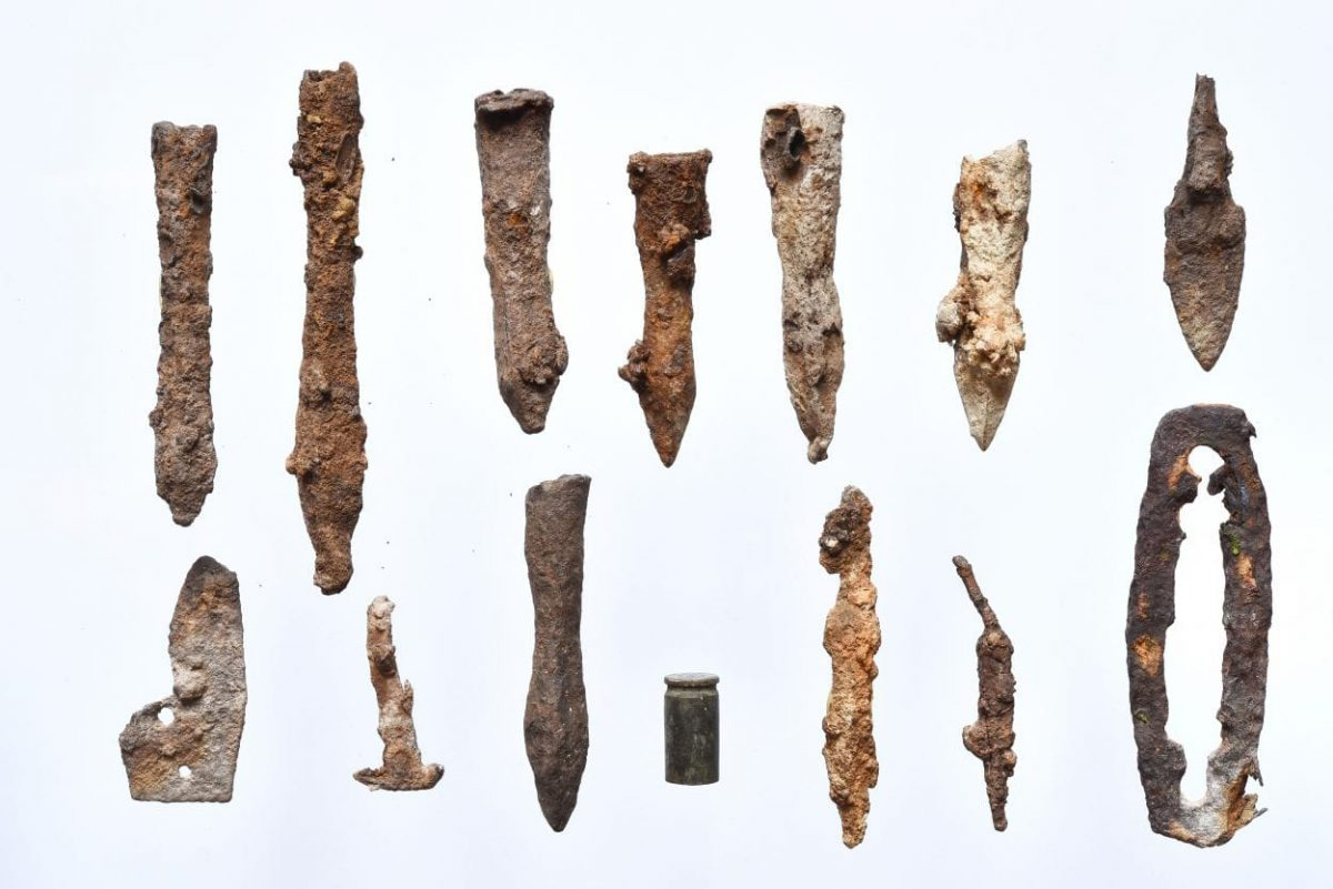 Based on a spatial analysis of the arrows and bolts, archaeologists have been trying to reconstruct the fighting and have determined that the main epicenter was on the south of the settlement.  Image Credit : Sanok Historical Museum