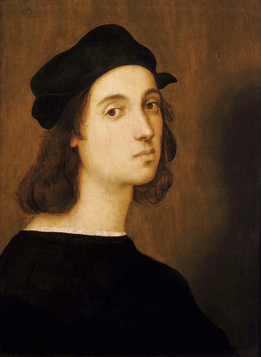 Self portrait of Raphael circa 1506, Uffizi Gallery, Florence (photo: Wikipedia).