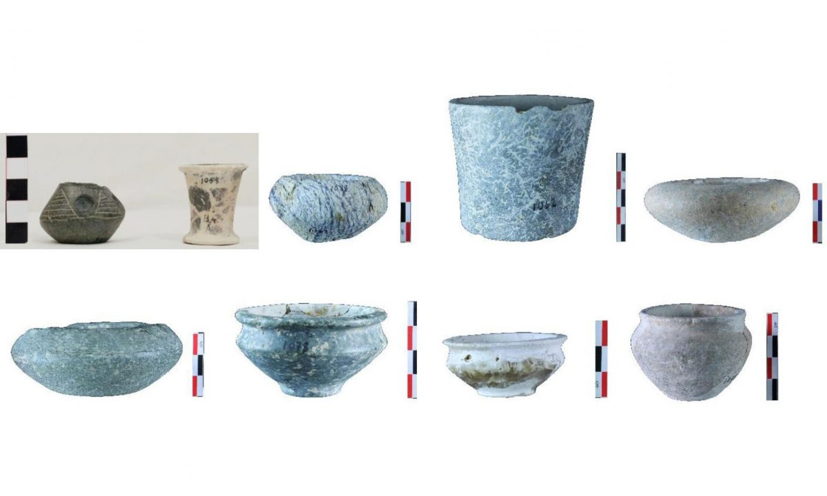 Stone objects from Porti. (images by K. Sidiropoulos and G. Flouda)