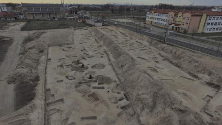 The settlement remains found in Warsaw's Białołęka district. Credit: PAP – Science in Poland