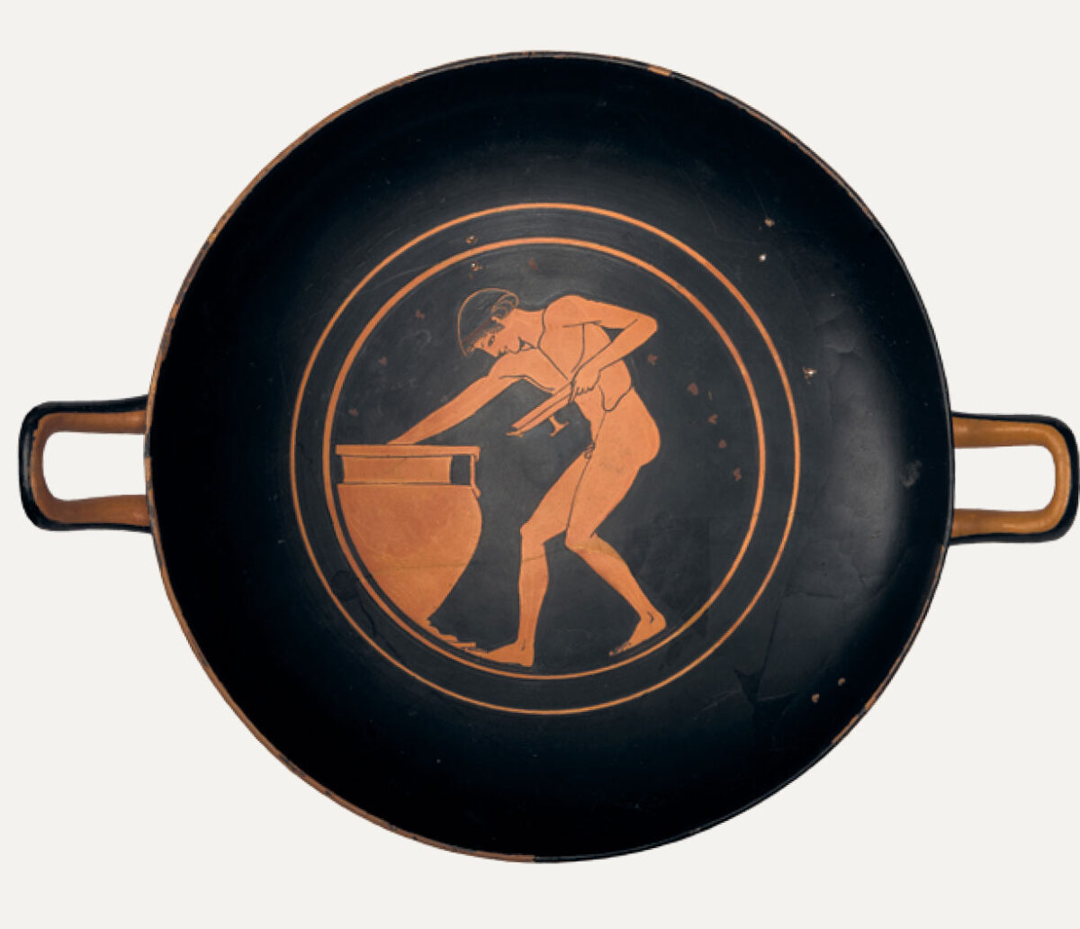 Red-figure kylix, 490 BC. Museum of Cycladic Art.