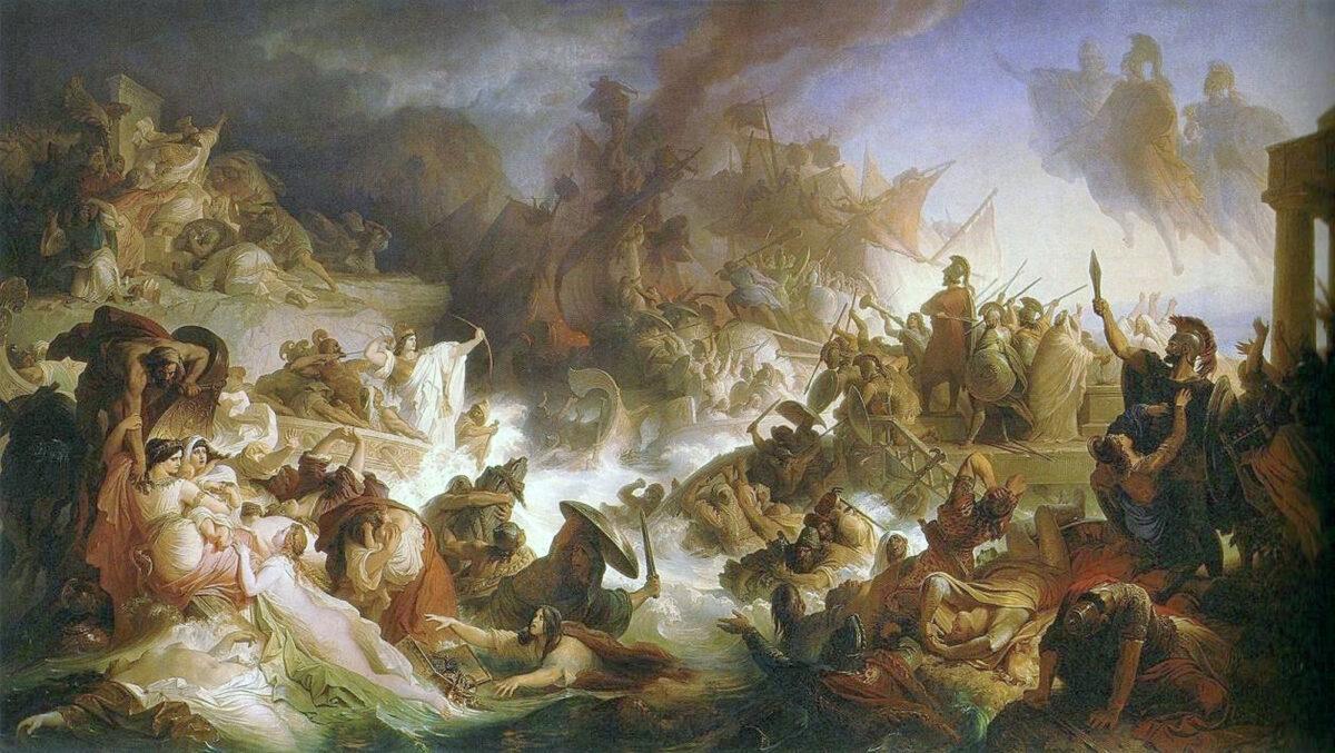 Wilhelm von Kaulbach: The naval battle of Salamis (photo: Wikipedia)