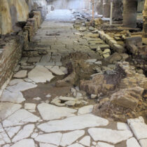 Τemporary removal and relocation of antiquities at the Venizelos station