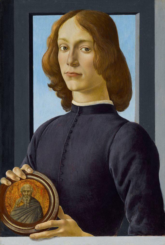 The Ultimate Renaissance Portrait: Young Man Holding a Roundel