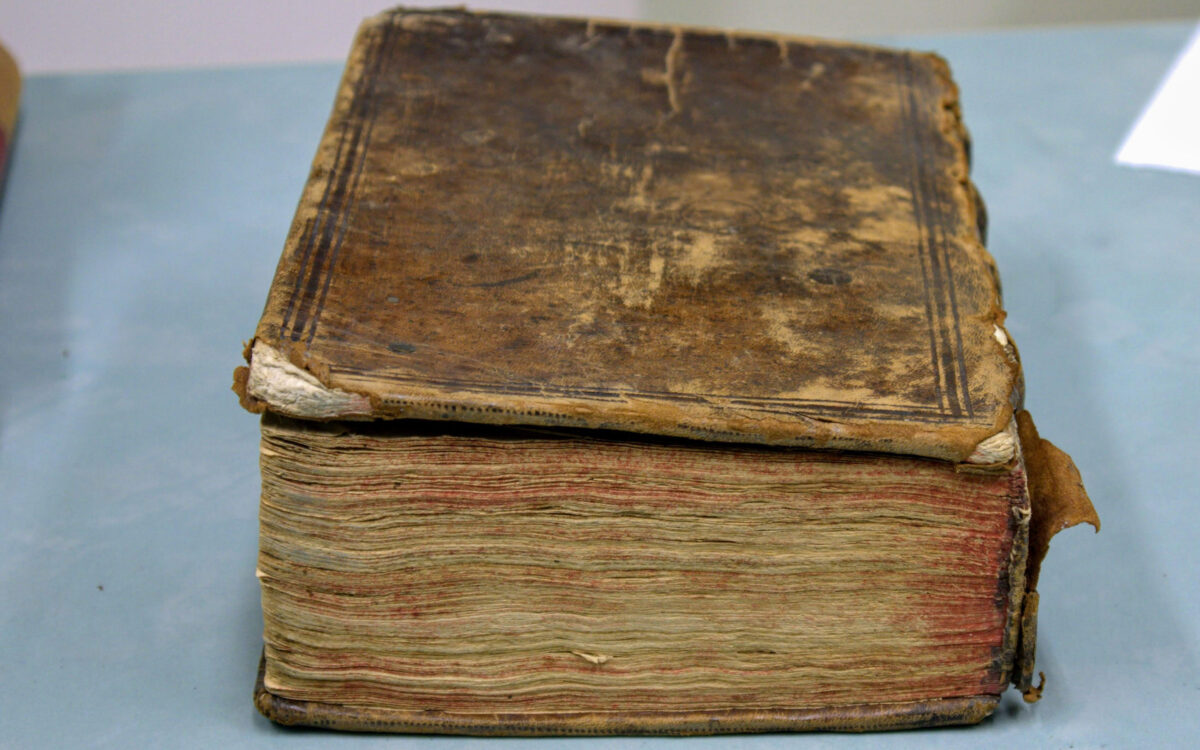 The volume containing The two noble kinsmen. Photo: John Stone/ Royal Scots College