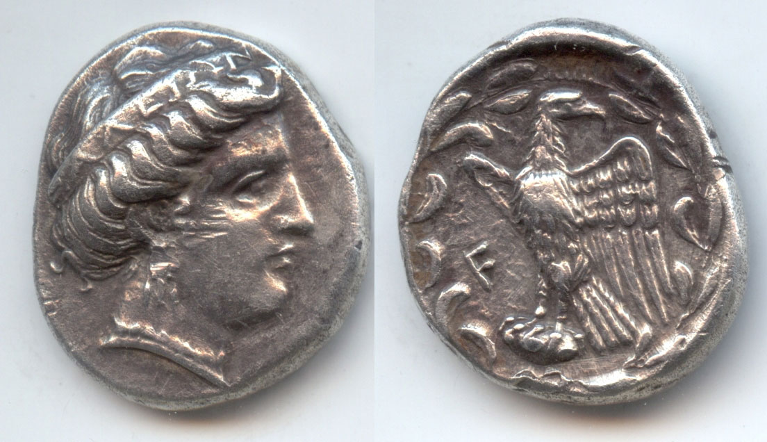 A stater of Elis from about 328 BC. (photo: MOCAS)