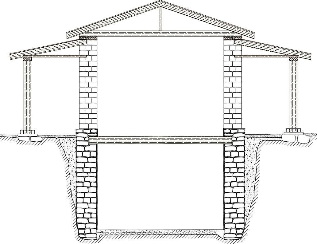 2.	Blueprint of the building's restoration (section Β-Ν) (photo: MOCAS).