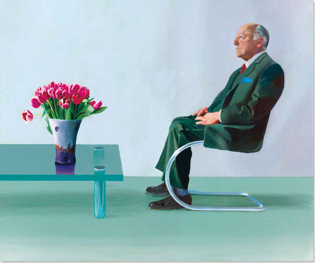 The Royal Opera House, London is auctioning a David Hockney painting