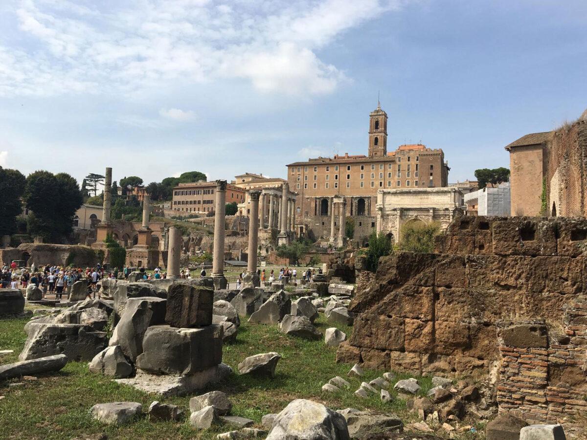 The ruins of the Roman Forum, once a site of a representational government. Credit: Linda Nicholas, Field Museum