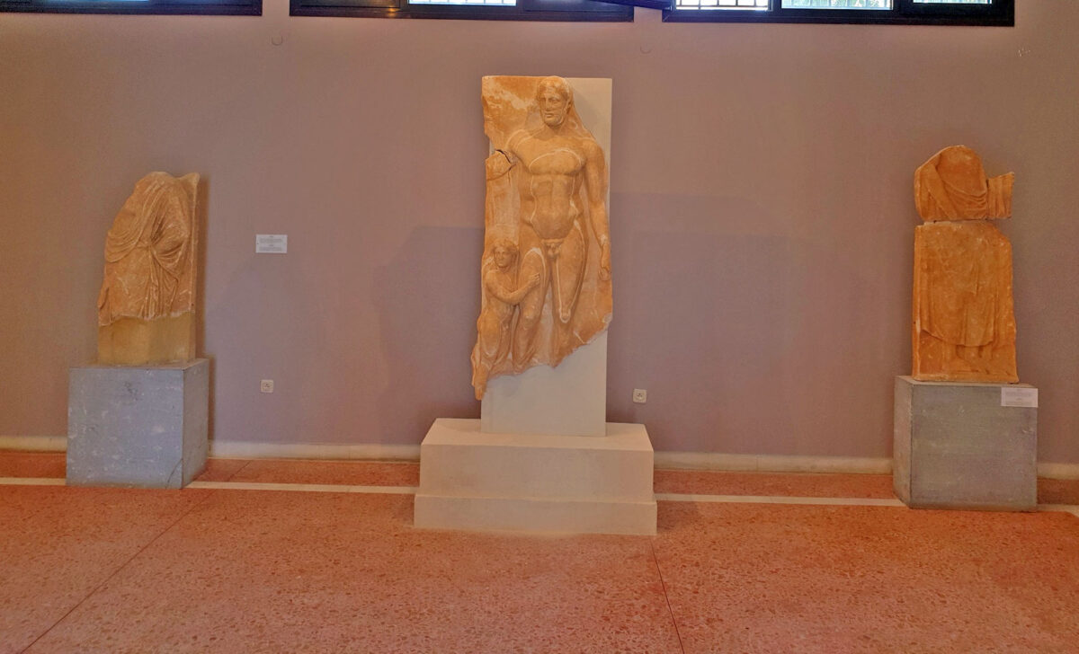 The grave stele from the excavation at Xobourgo (photo: MOCAS).